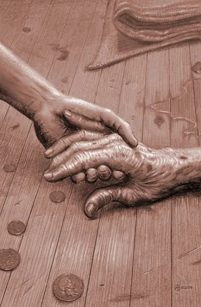 Visual-Art - The-Old-Womans-Crooked-Hand-by-Alan-Clark